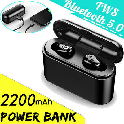 Bluetooth 5.0 Headset Mini TWS Twins Wireless Headphone Stereo Earphones Earbuds
