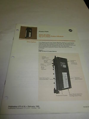 Allen Bradley Output Module Product Data Manual, Used