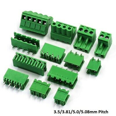 10×3.5/3.81/5.0/5.08mm Pitch PCB Pluggable Terminal Block Screw Connector 2P-16P