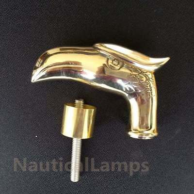 Solid Brass Eagle Head Handle for Walking Stick Cane Vintage Replica Gift