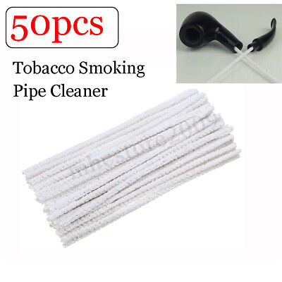 50pcs Intensive Cotton Pipe Cleaners Smoking Tobacco Pipe Cleaning Tool !