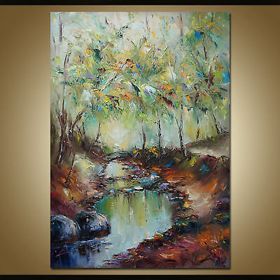 Modern Abstract 100% Hand-Painting Modern Oil Painting Home Decor Canvas Art