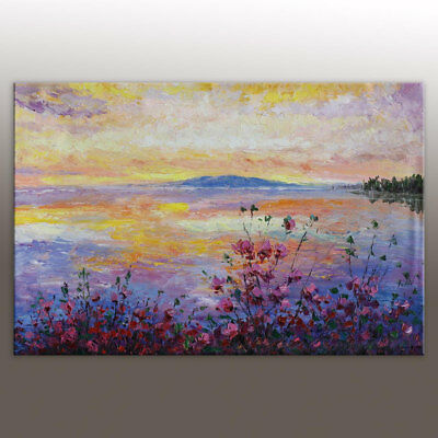 Modern Hand Painted Landscape Oil Painting Abstract Home Decor Wall Art Canvas