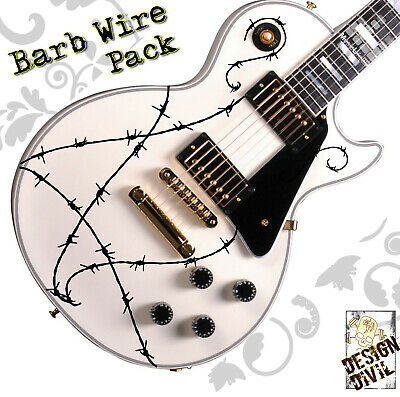 Pro Custom BARB WIRE Guitar Decal Stickers Fits All Guitars 24 Colour Options