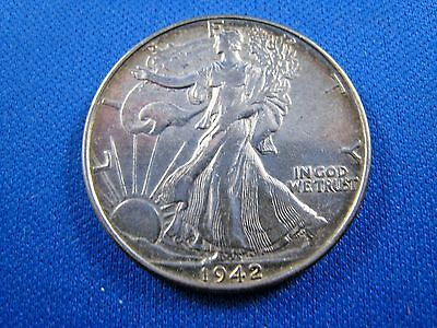 1942 WALKING LIBERTY HALF DOLLAR - UNCIRCULATED    (dpq12)