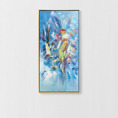 Huge Modern Home Decor Canvas Fashion Abstract Color Hand Painted Oil Painting