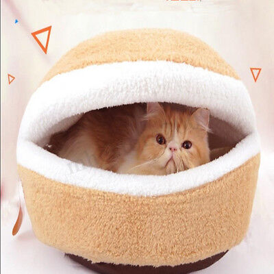 Pet Cat Soft Warm Bed Puppy Cushion House Kennel Sleeping Mat Pad Blanket Cave !