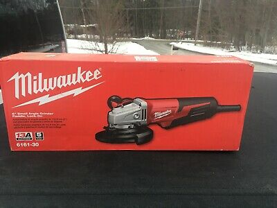Small Angle Grinder Paddle IN STOCK Milwaukee 6117-30 13 Amp 5 in Lock-On