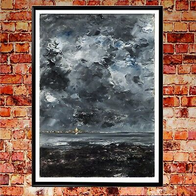 Modern Abstract Seascape Art Home Decor Wall Hand Painted Oil Painting On Canvas