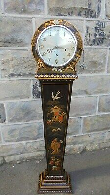 Antique Lacquered Chinoiserie Granddaughter Clock