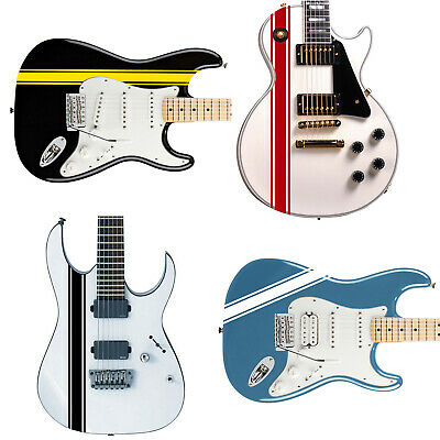 Customised Racing Stripes Decal Sticker for Guitars & Basses 24 Colour Options