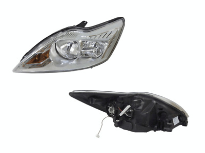 Left Chrome Chrome Headlight For Ford Focus Scl, Lx/Tdci (Lv) 2009-2011