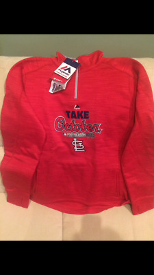 save off cf3c1 4f285 NEW WOMEN'S MLB Majestic Take October St. Louis Cardinals ...