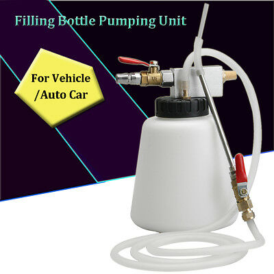 Auto Car Vehicle Filling Bleeder Bottle Pumping Unit Pneumatic Brake Oil Tool !