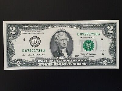 2009 $2 TWO DOLLAR BILL ( Cleveland ) ,Circulated