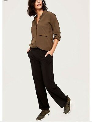 320e5074319 EUC Lole Womens Black Refresh Pants Size Small Stretch Quick Dry Travel  Pull On