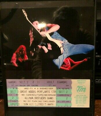 Allman Brothers RARE Ticket and Picture framed  Zakk Wylde is in the band