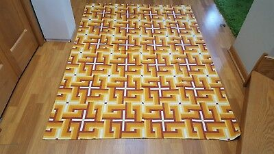 Awesome RARE Vintage Mid Century retro 70s duvet cover and pillowcase fabric!!