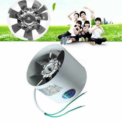 """4"""" Inline Duct Booster Fan Exhaust Blower Air Cleaning Cooling Vent Metal Blade"""
