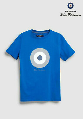 68cb470053c27f BEN SHERMAN JUNIOR Boys Target Printed T-Shirt Bright White Size 12 ...
