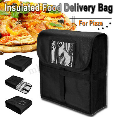 Pizza Food Delivery Bag Thick Insulated Holds up to 12'' Pizzas Boxes Black !