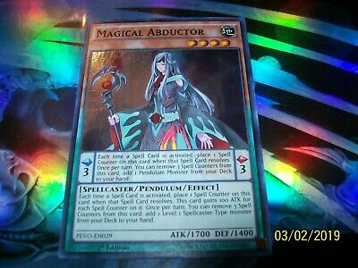 Magical Abductor 1st Edition Super Rare PEVO-EN029 Yu-Gi-Oh!
