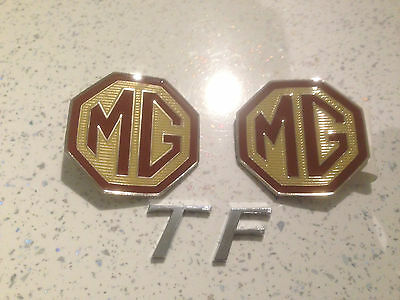 MG Badge Front Grille and rear boot Overlay badges and TF Letter Badge