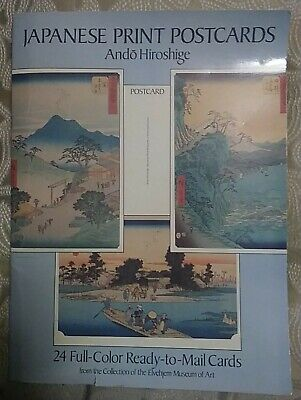 Ando Hiroshige Japanese Postcards 24 Color Collectible Elvehjem Museum of Art