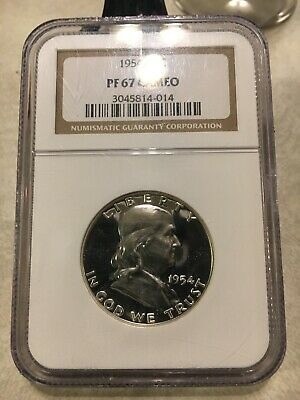 1954 Proof Franklin Half Dollar NGC PF 67 CAMEO GEM PR 50c Gorgeous