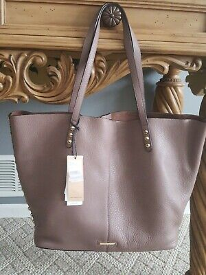 cfbaee042 NWT Rebecca Minkoff Medium Unlined Tote With Dome Studs In Mink W/ Gold  Hardware