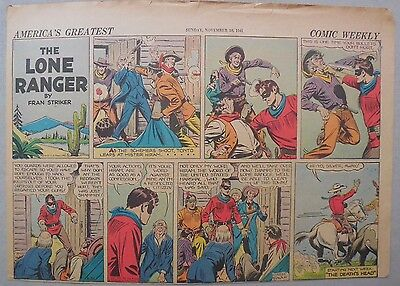 Lone Ranger Sunday Page by Fran Striker and Charles Flanders from 11/30/1941
