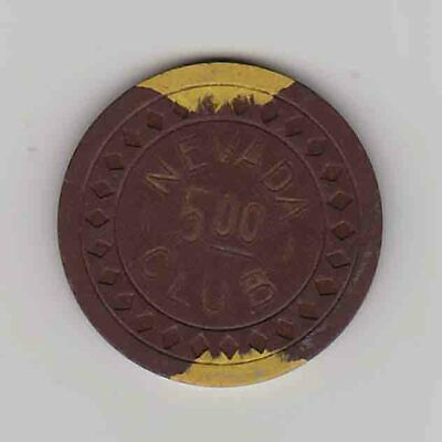 Vintage $5 chip from the Nevada Club Casino (1940s) Reno