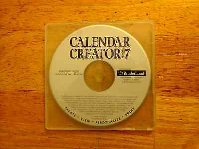 Broderbund Calendar Creator 7 ( New! plain jewel case )