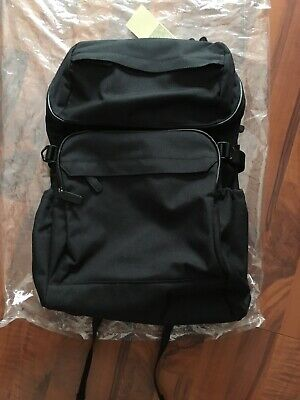 4a4a22e3b1 NWT MUJI Nylon Backpack with side belt for adjustment  Black