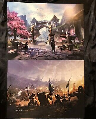 """Two Elder Scrolls Online Posters 16"""" x 12"""" Collectible Posters Skyrim, Oblivion"""
