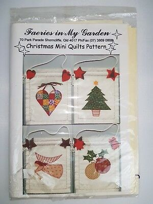 Faeries in My Garden Christmas Mini Quilts Pattern (7 patterns total)