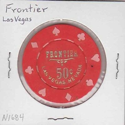 Vintage 50¢ chip from the Frontier Hotel Casino (1980) Las Vegas