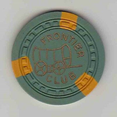 Rare vintage $5 chip from the Frontier Club Casino (1940s) Las Vegas