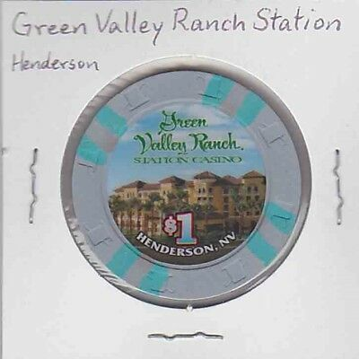 $1 chip from the Green Valley Ranch Station Casino, Henderson, NV