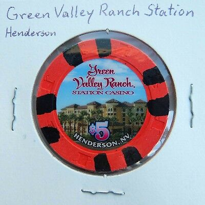 $5 chip from the Green Valley Ranch Station Casino, Henderson, NV