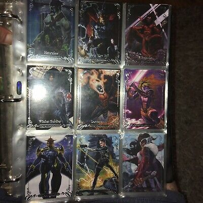 2018 Marvel Masterpieces Trading Card Lot