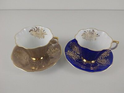 Queen Anne Fine bone china, England #304 2 cup and saucer sets