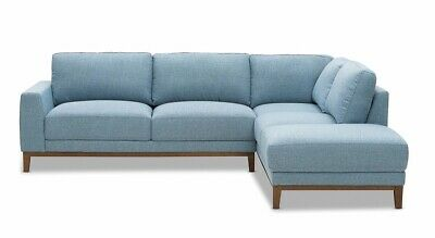 Super Amart 3 Seater Sofa With Lounger As New Curly In Storage