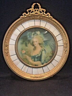 Sgnd.,germany Antique Celluloid & Bronze Picture Frame With A++ Details