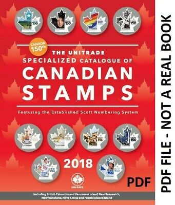 2018 UNITRADE SPECIALIZED - CATALOGUE OF CANADIAN STAMPS - read description