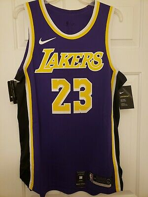 100% Authentic LeBron James Nike Statement Edition Lakers Jersey Size 48 L  Mens a7f69fd71