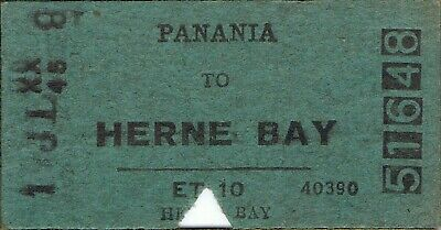Railway tickets a trip from Panania to Herne Bay by the old NSWGR in 1958