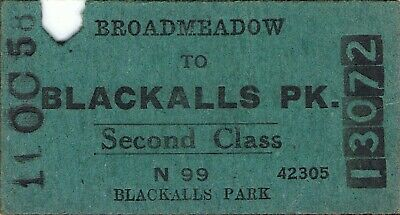Railway tickets a trip from Broadmeadow to Blackalls Pk by the old NSWGR in 1958