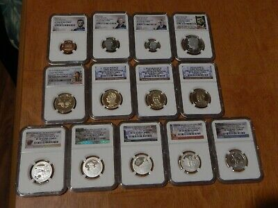 2016 13 Piece Silver Proof Set NGC PF 70 Early Releases POP = 202 total Last One