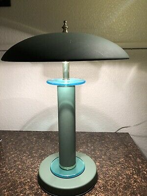 Vintage Art Deco Mushroom Table Metal Desk Lamp Circa 1940 S